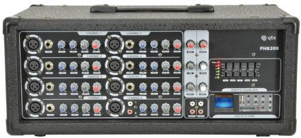 QTX PH8200 200w Powered Mixer